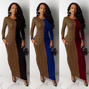 Baz modelde dış giyim 18YX9173 kadın sonbahar ve kış yeni moda baskı ekleme gündelik elbise moda ince uzun kollu