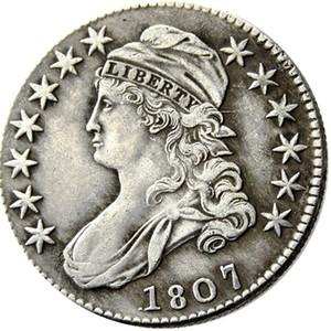 ABD 1807 Capped Yarım Dolar Gümüş Kaplama Kopya paralar metal tekne ölür imalat fabrikası Fiyat