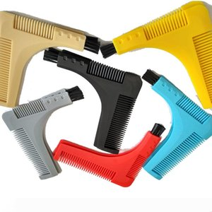 Men Gentleman Facial Hair Beard Shaper Guide Template Combs Styling Accessories Trim Shaping Tool Salon Hair Trimmer Comb