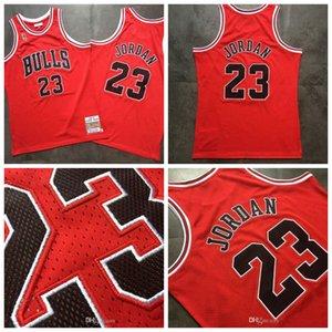 2020 novos homens de basquete ChicagoBullsMichaelJdnba Mitchell Ness 1996-1997 vitória final vermelho Swingman Jersey mj jm