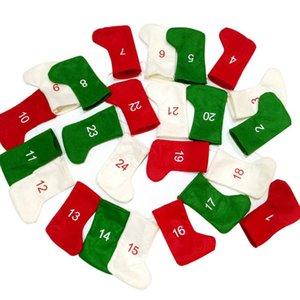 Christmas Stockings Advent Calendars 24 Days Countdown Advent Calendar Garland Stockings for Holiday Party Christmas