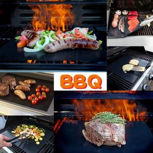 BBQ 그릴 매트 내구성 비 스틱 바베큐 매트 40 * 33cm 요리 시트, 전자 레인지 오븐 야외 바베큐 도구 무료 배송 요리