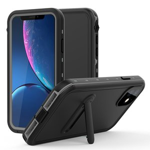 Waterproof Case para iPhone 11 Pro Max IP68 à prova de choque Mergulho Piscina Caixas Estanques telefone corpo inteiro com suporte para Apple iPhone 2019