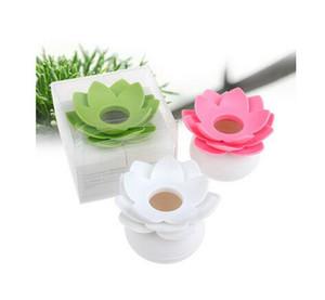 100pcs New Lotus Cotton tampone scatola di loto germoglio di cotone titolare base camera decorare / Lotus stuzzicadenti titolare casella stuzzicadenti