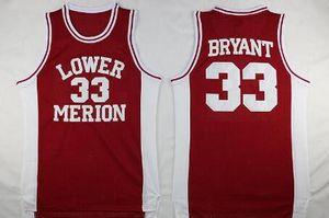 NCAA Lower Merion 33 Bryant Jersey universitario maschile Liceo Pallacanestro Hightower Crenshaw Gianna Maria Onore 2 Gigi Mamba maglie cucita