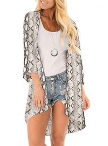 """نساء (كيب Women Fashion Women Loose Prevent Bask Clothes Summer Chiffon Sun Suncrea Bluce Floar)"""