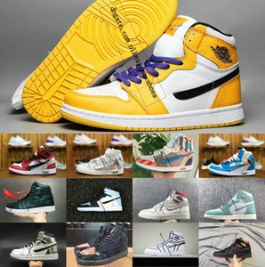 2019 Новый Travis Скоттс X 1 High 1s OG Mid Basketsball обуви Дешевый Royal Banned Bred от Black White Нового цвета Мужчины Женщины для перепродажи 36-46