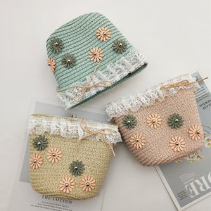 Straw Weaving Natural Style Money Bag Pouch with Zipper Cute GirL Mini Pouch Bags for Money LQB10