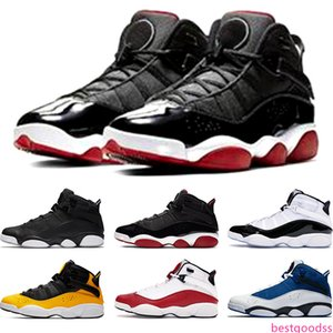 Newest 6 Rings Mens Basketball Shoes Bred Concord Matte Silver Taxi White University Red Men Trainers Sports Sneakers Size 7-13 Online Sale