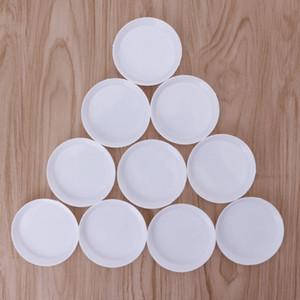 ¡Caliente! 10pcs plástico redondo diamantes de imitación bolas de cristal de uñas de arte Clasificación bandejas blancas