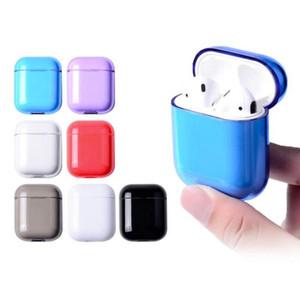 Auricular protector para AirPods la caja a prueba de golpes protectora transparente transparente duro de la cubierta de PC compatibles con el caso de Apple Airpods 1 2