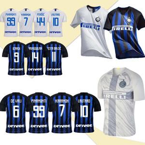 Интер Главной футбол Джерси 18/19 Интер прочь футбол рубашка 2019 # 9 ICARDI # 10 LAUTARO третьего Футбол Равномерные продажи