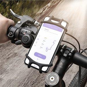 Recién universal de 360 grados de bicicletas soporte para teléfono ajustable de silicona antichoque manillar de la bici del clip del soporte del GPS del teléfono Soporte de montaje