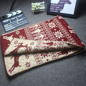 190 * 33 centímetros quente do lenço do inverno Homem Para Mulher do Natal lenço da forma do floco de neve Elk Imprimir Cachecol Thicken Wool Knit Scarves Christmas Gift LJJA3263
