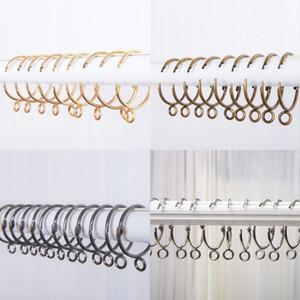 Fenêtre ouverte Anneau de rideau crochets de rideau Accessoires anneau de suspension en métal Rideaux Clips Outils 38mm Crochet rideau
