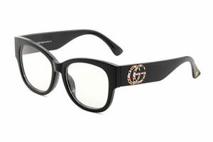 2019 Lunettes de soleil rondes en métal Designer Eyewear Or Flash lentille en verre pour les femmes Miroir lunettes de soleil rondes unisexe sun glasse livraison gratuite