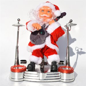 Christmas Theme Santa Claus Electronic Toys Fashion Home Christmas Decorations Santa Claus Dolls With Various Musical Instruments