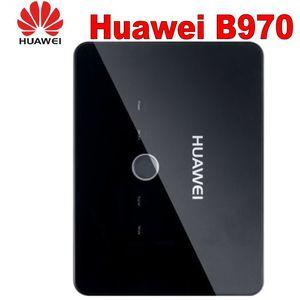 Desbloqueado Huawei B970 3G Router sem fio Gateway HSDPA WIFI router Com Slot Para Cartão SIM 4 porta LAN