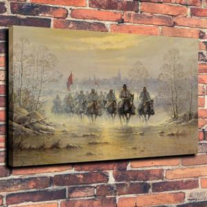 Die Konföderierten Armee War Horse Hauptdekor handgemaltes HD-Druck-Ölgemälde auf Leinwand-Wand-Kunst Leinwandbilder 191103