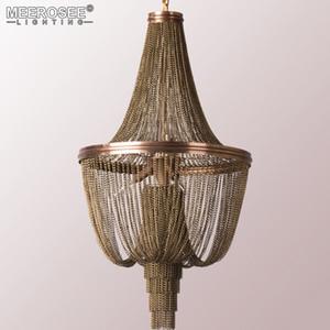 Chegada Nova Design Italiano Candelabro Luz alumínio Vintage cadeia pendurado Luster pingente luz para a lâmpada Quarto Restaurante Hotel Art Studio