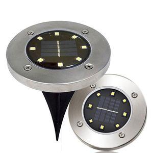Водонепроницаемый Солнечные 8 LED Похоронены Underground освещение Открытого пейзаж Пути Сад лампа Лестница Света лампа Опалубка