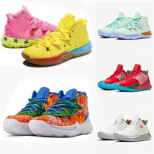 2020 최고 새로운 파인애플 하우스 5 Kyrie 남성 농구 신발 5 초 개념 낮은 2 멀티 컬러 일몰 오리온의 벨트 고소 신선한 낙서 스폰지 유지