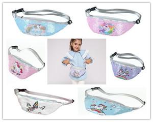 Блестки Печать Unicorn талии сумка Реверсивный Блеск Блестки Талия пакет Fanny Pack Unicorn Crossbody Сумка Сундук Сумка для женщин девочек