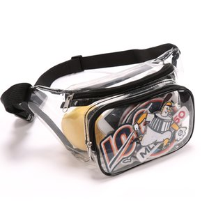 Fanny Pack, Veckle Clear Pack Waterproof Cute Waist Bag Stadium Approved Transparent sports equipment backpack