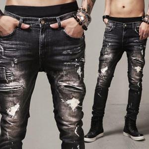 Moda Uomo Stretch Stylist Jeans Denim Jogger design di alta qualità Hip Hop Pantaloni Skinny Jeans Uomo Abbigliamento Streetwear