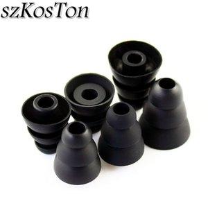 montão Acessórios 3 pares / 6 pares de silicone suave Orelha Dicas Buds Em fone de ouvido Pad cobre a substituição de três camadas Eartips Earbuds fone de ouvido ...