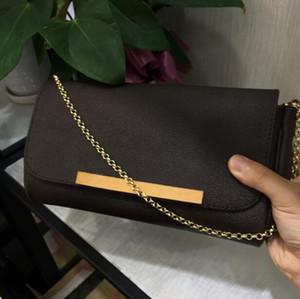Diseñador mujeres clásico bolso favorito MM PM cuero real Pochette bolsas bolso embragues cadena extraíble 26 cm gran volumen m40718