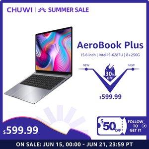 "2020 Chuwi AeroBook Plus 15,6"" 4K UHD Дисплей Intel i5-6287U 8GB RAM 256GB SSD Ультра Ноутбуки 55Wh батареи PD2.0 Быстрая зарядка"