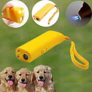 초음파 개 드라이브 껍질 스토퍼 야외 스포츠 다기능 애완 동물 트레이너 LED 손전등 2 색 애완 동물 공급