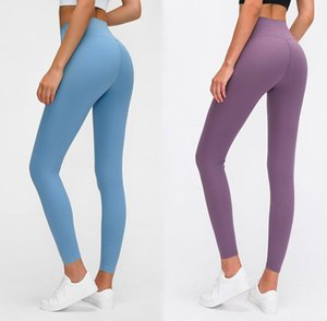 Fest Farbe Frauen Designer Leggings mit hoher Taille Gym Wear Elastic Fitness Lady Overall Voll Tights Workout Frauen Jogginghose Yoga Pants