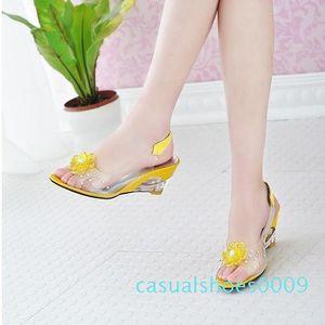 BONJOMARISA Big Size 34-43 Factory Price Rome stylish high quality fashion wedge heel sandals dress casual shoes sandals XB140 c09