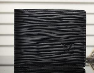Presentes Carteira Vender Hot Black Fashion Carta Folding bolsa carteira clássico curto para Homens Mulheres Preto Carteiras Bolsas 02