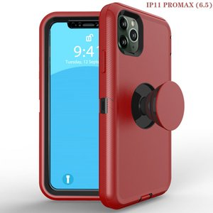 For iPhone XR XS MAX 8 7 6 Hybrid Holder Anti-Shock Protector Cover Kickstand Phone Case For iPhone11 Pro Max