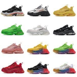 Top quality Boots BalenTriple-S Clear Sole Bottom Paris Luxury mens women casual sneakers designer vintage platform trainers shoes
