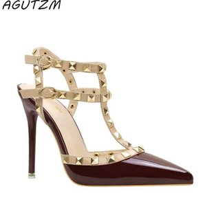 AGUTZM Женские туфли на высоком каблуке из дамы с сексуальным острым носком на высоком каблуке с шипами на высоком каблуке с высокой пяткой