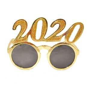 2020 Números Foto Prop óculos flash pó plástico Ano Novo Óculos Crianças Eyewear para decorações do partido 3styles RRA2564