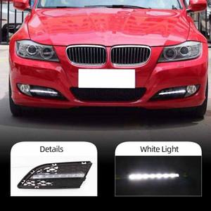2 шт. Автомобильный светодиодный DRL для BMW E90 3Series 328i 320i 323i 325i 330i 2010 2011 2012 Дневное беговые огни Дневной свет