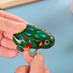 Free shipping Iron Frog Leapfrog Clockwork small toy child baby Toy classic 80's Nostalgia Retro Winding toys