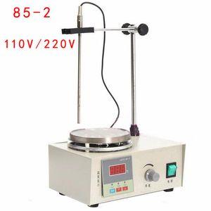 가열 제어 플레이트 디지털 디스플레이 85-2 핫 플레이트 믹서 220V / 110V가있는 새로운 실험용 마그네틱 교반기