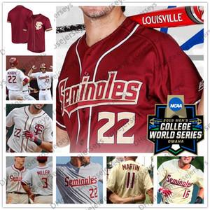 FSU Florida Eyalet Seminoles # 2 Deion Sanders 7 Luke Weaver 8 Buster Posey 44 Jameis Winston Beyaz Kırmızı Krem Retro NCAA Beyzbol Forması