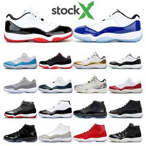 2020 Auf X Herren-Basketball-Schuhe 11s weiß Bred CONCORD Snakeskin VAST Cool Grey GAMMA Legend BLUE 11 Frauen Sport-Turnschuhtrainer