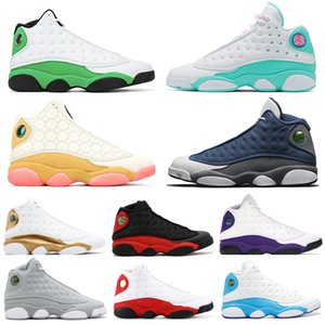 Nueva barato 13 13s para hombre de los zapatos de baloncesto Amor Respeto Altitud lobo gris CORTE PURPLE Zapatos Hombres Moda entrenador atlético 36-47