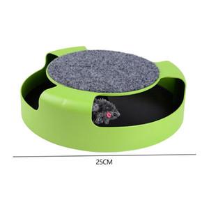 Juguetes divertidos para mascotas Gato Crazy Mouse Disk Gatos interactivos que juegan juguetes de giradiscos con Mouseless Shadow Kitten Toy Turntable Turntable Toy