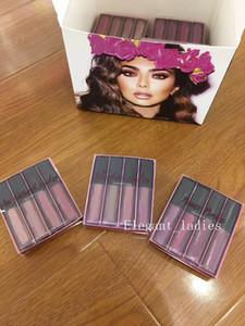 NOVA Maquiagem Lipgloss Super beleza 4 cores 1 conjunto = 4 pcs Matte Lipgloss kit 9 estilos disponíveis shiiping livre