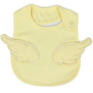 Newborn Bibs Baby Bandana Bibs White Cotton Burp Cloth Pink Angel Wings Cute Boy Girl Bib For Infant Toddler Feeding