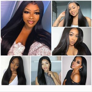 full lace human hair Lace Front Human Hair Wigs for Black Women Peruvian Remy Hair Lace Frontal Wigs Pre Plucked